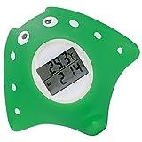 Termómetro de Baño para Bebés, Termómetro Bañera Bebé, Termometro Agua Bebe digital, con Alarma de Advertencia LED, Función de Reloj y Temporizador, en Forma de Pez