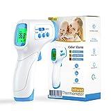 Termómetro infrarrojos IDOIT termómetro de frente sin contacto para adultos niños bebé Termómetro digital con alarma de fiebre, función de memoria y pantalla LCD
