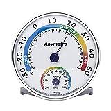 Higrometro Analogico/Hidrometro/Termometro Ambiente Interior/Termometro Ambiental/Medidor Humedad Casa,Sin Batería (13cm, Redondo)