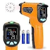Termómetro de infrarrojos Kasimir AD-70-58 ° F ~ 1472 ° F Digital láser sin contacto infrarrojos pistola de temperatura pantalla a color 12 Punto apertura función de alarma de temperatura