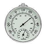 iMangoo Termómetro higrómetro de 10 cm para interior y exterior, termómetro de humedad interior y exterior, medidor de humedad para monitor de clima, medidor de humedad, indicador de temperatura
